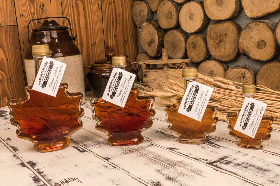 Maple Leaf Syrup Bottle