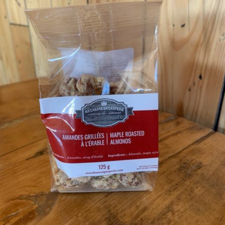 Maple roasted almonds
