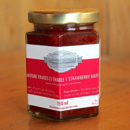 Confiture de fraises et érable