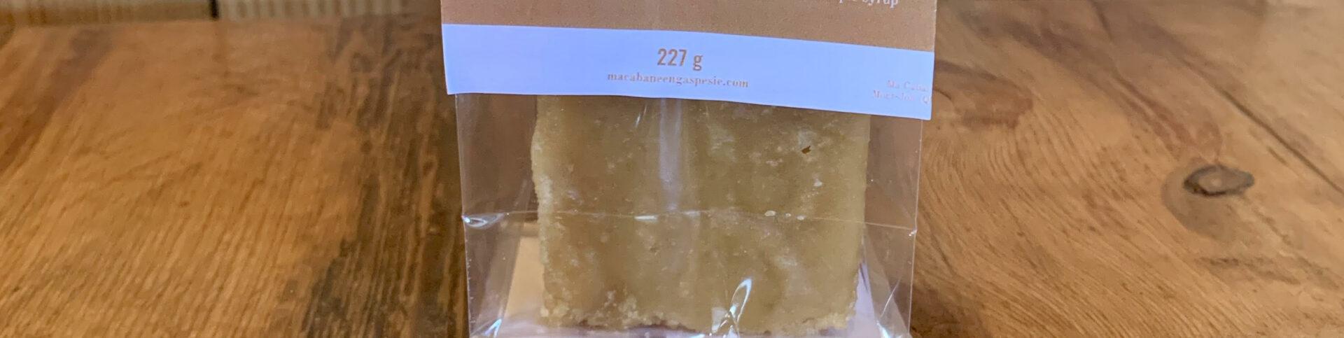 15% de rabais sur le pain de sucre d'érable